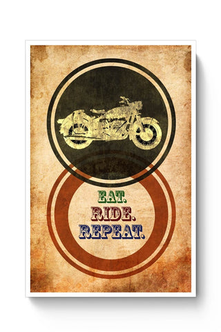 Eat Ride Repeat Poster Online India