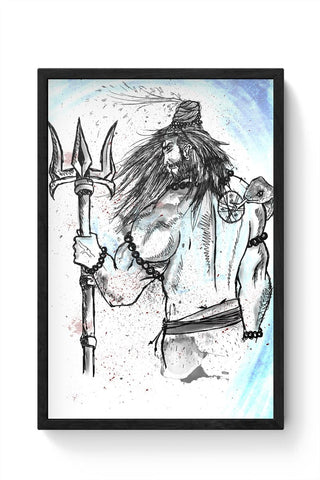 Shiva Sketch Framed Poster Online India