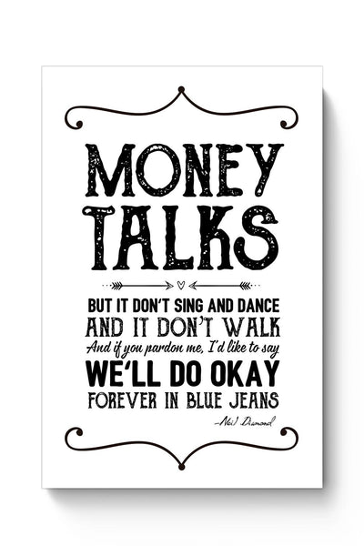 Money talks Poster Online India