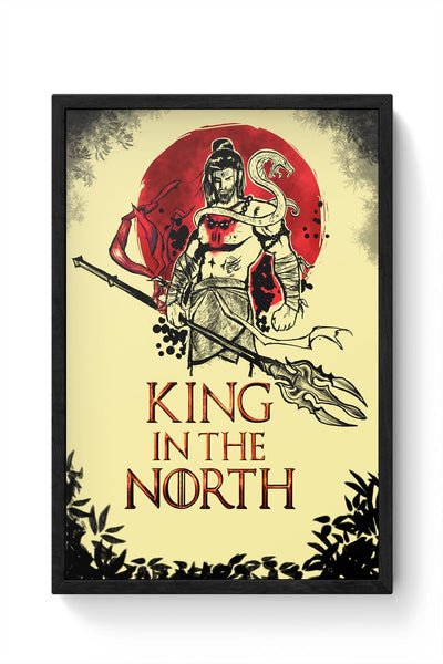 Shiva-king in the north Framed Poster Online India