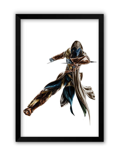 Framed Posters | Assassin's Creed Fan Art illustration Laminated Framed Poster Online India