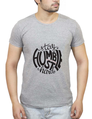 Buy Stay Humble - Hustle Hard T-Shirts Online India | Stay Humble - Hustle Hard T-Shirt | PosterGuy.in