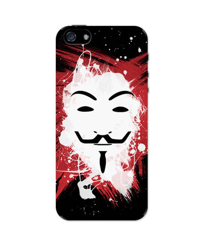 iPhone 5 / 5S Cases & Covers | V For Vendetta Inspired Anonymous iPhone 5 / 5S Case Online India
