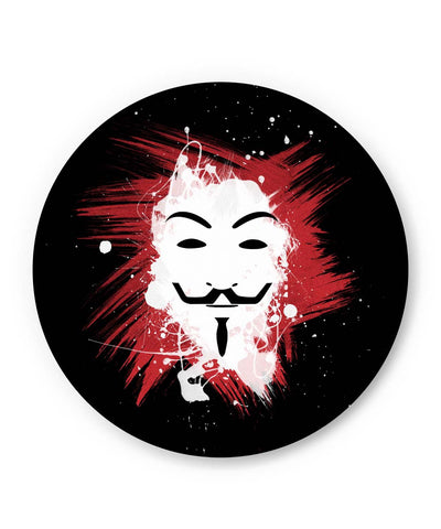 PosterGuy | V For Vendetta Inspired Anonymous Fridge Magnet Online India by Lazy Artman