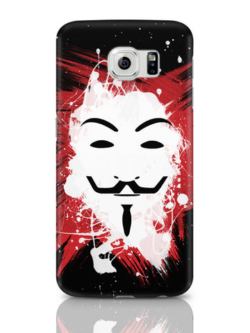 Samsung Galaxy S6 Covers & Cases | V For Vendetta Inspired Anonymous Samsung Galaxy S6 Covers & Cases Online India
