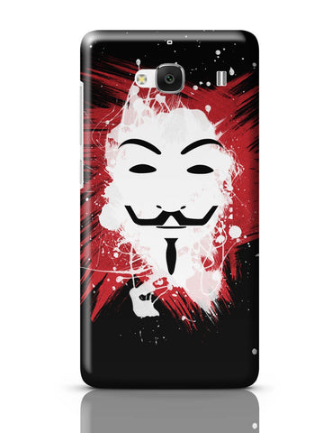 Xiaomi Redmi 2 / Redmi 2 Prime Cover| V For Vendetta Inspired Anonymous Redmi 2 / Redmi 2 Prime Cover Online India