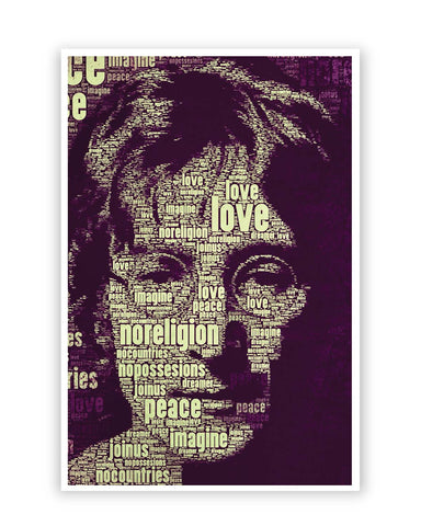 Posters Online | John Lennon Typography Art Poster Online India | Designed by: Lazy Artman