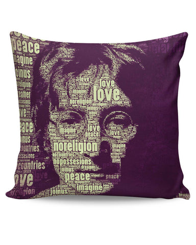 PosterGuy | John Lennon Typography Art Cushion Cover Online India