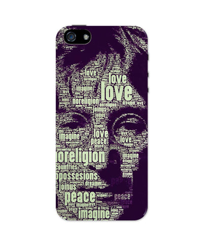 iPhone 5 / 5S Cases & Covers | John Lennon Typography Art iPhone 5 / 5S Case Online India
