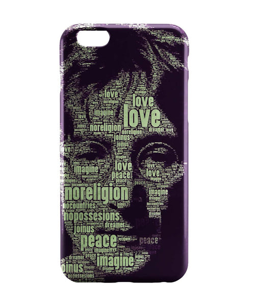 iPhone 6 Case & iPhone 6S Case | John Lennon Typography Art iPhone 6 | iPhone 6S Case Online India | PosterGuy