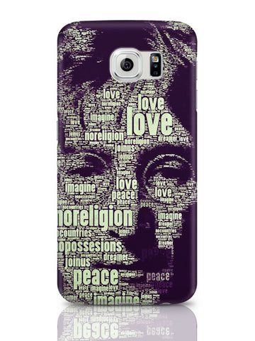 Samsung Galaxy S6 Covers & Cases | John Lennon Typography Art Samsung Galaxy S6 Covers & Cases Online India