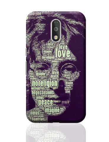John Lennon Typography Art Moto G4 Plus Online India
