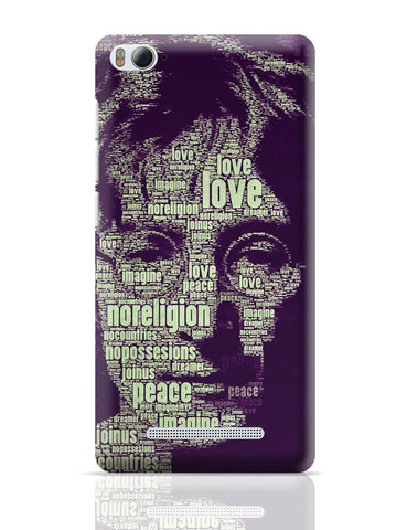 Xiaomi Mi 4i Covers | John Lennon Typography Art Xiaomi Mi 4i Cover Online India