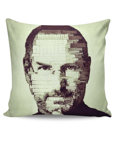 PosterGuy | Steve Jobs Typographic Illustration Cushion Cover Online India