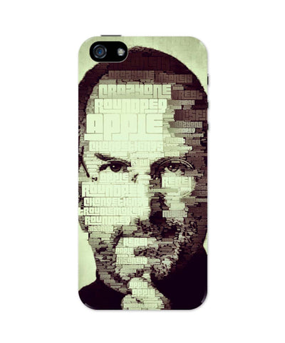 iPhone 5 / 5S Cases & Covers | Steve Jobs Typographic Illustration iPhone 5 / 5S Case Online India