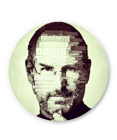 PosterGuy | Steve Jobs Typographic Illustration Fridge Magnet Online India by Lazy Artman