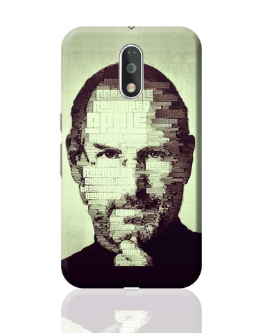 Steve Jobs Typographic Illustration Moto G4 Plus Online India