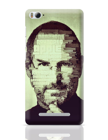 Xiaomi Mi 4i Covers | Steve Jobs Typographic Illustration Xiaomi Mi 4i Cover Online India
