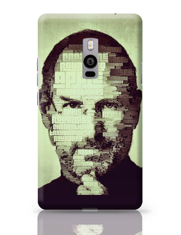 OnePlus Two Covers | Steve Jobs Typographic Illustration OnePlus Two Cover Online India