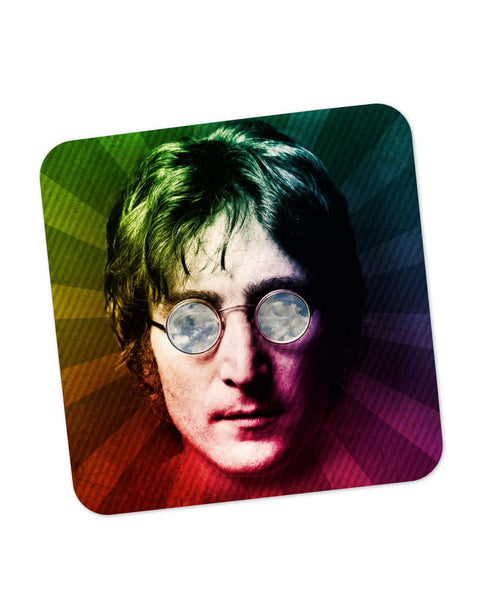 Buy Coasters Online | John Lennon Rainbow Pop Art Coaster Online India | PosterGuy.in