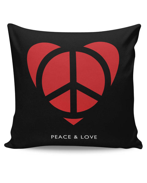 PosterGuy | Peace and Love Minimalist Cushion Cover Online India