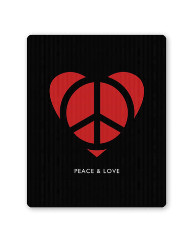 Buy Mousepads Online India | Peace and Love Minimalist Mouse Pad Online India