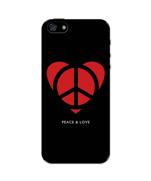iPhone 5 / 5S Cases & Covers | Peace and Love Minimalist iPhone 5 / 5S Case Online India