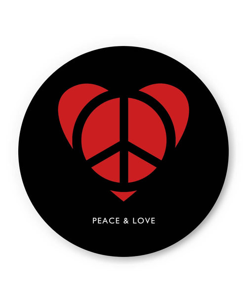 PosterGuy | Peace and Love Minimalist Fridge Magnet Online India by Lazy Artman