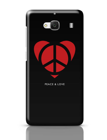 Xiaomi Redmi 2 / Redmi 2 Prime Cover| Peace and Love Minimalist Redmi 2 / Redmi 2 Prime Cover Online India