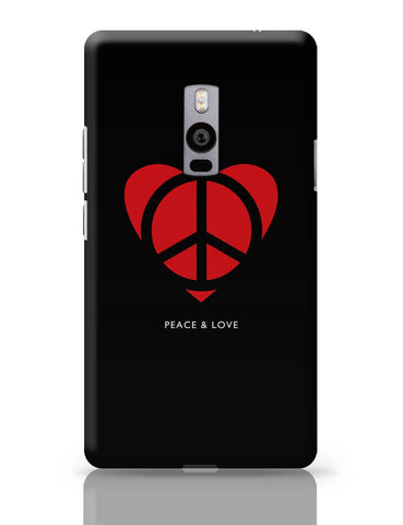 OnePlus Two Covers | Peace and Love Minimalist OnePlus Two Cover Online India