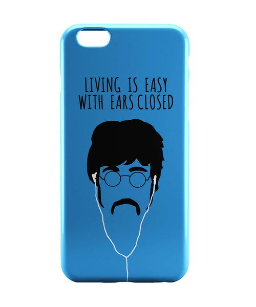 iPhone 6 Case & iPhone 6S Case | Living is Easy with Ears Closed (Green)| John Lennon iPhone 6 | iPhone 6S Case Online India | PosterGuy