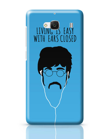 Xiaomi Redmi 2 / Redmi 2 Prime Cover| Living is Easy with Ears Closed (Green)| John Lennon Redmi 2 / Redmi 2 Prime Cover Online India