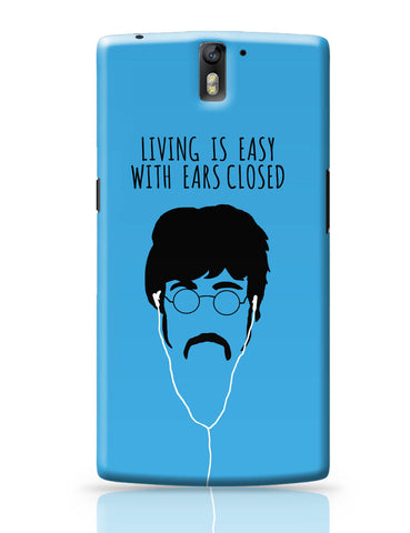 OnePlus One Covers | Living is Easy with Ears Closed (Green)| John Lennon OnePlus One Cover Online India