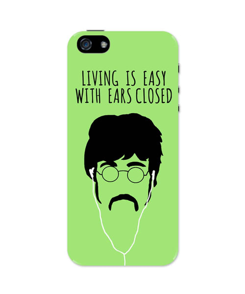 iPhone 5 / 5S Cases & Covers | Living is Easy with Ears Closed (Pink)| John Lennon iPhone 5 / 5S Case Online India
