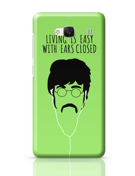 Xiaomi Redmi 2 / Redmi 2 Prime Cover| Living is Easy with Ears Closed (Pink)| John Lennon Redmi 2 / Redmi 2 Prime Cover Online India