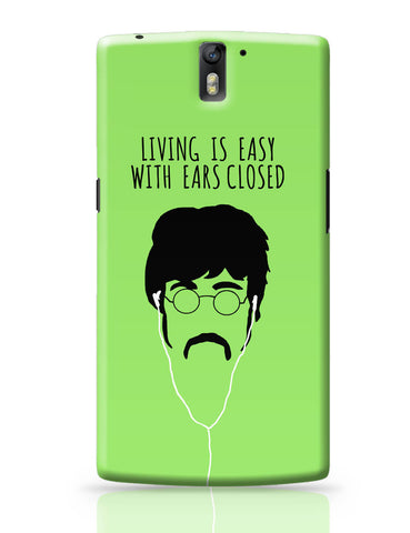 OnePlus One Covers | Living is Easy with Ears Closed (Pink)| John Lennon OnePlus One Cover Online India