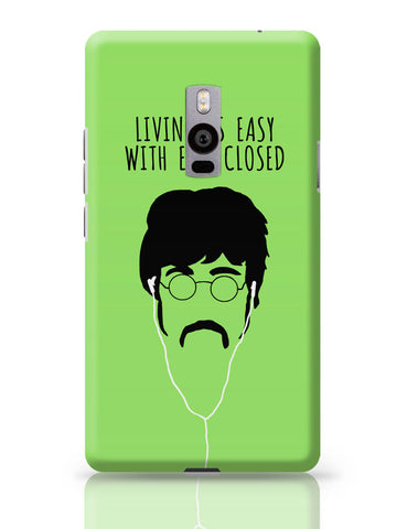 OnePlus Two Covers | Living is Easy with Ears Closed (Pink)| John Lennon OnePlus Two Cover Online India