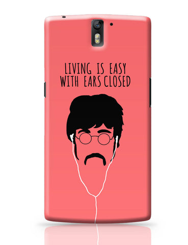 OnePlus One Covers | Living is Easy with Ears Closed (Red)| John Lennon OnePlus One Cover Online India