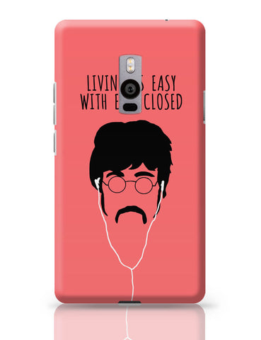 OnePlus Two Covers | Living is Easy with Ears Closed (Red)| John Lennon OnePlus Two Cover Online India