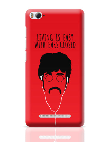 Xiaomi Mi 4i Covers | Living is Easy with Ears Closed (Yellow)| John Lennon Xiaomi Mi 4i Cover Online India