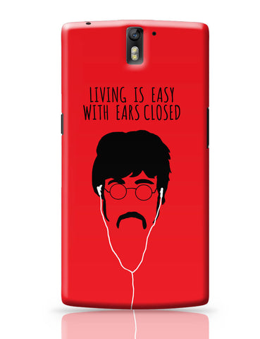 OnePlus One Covers | Living is Easy with Ears Closed (Yellow)| John Lennon OnePlus One Cover Online India