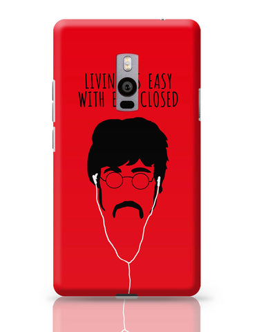OnePlus Two Covers | Living is Easy with Ears Closed (Yellow)| John Lennon OnePlus Two Cover Online India
