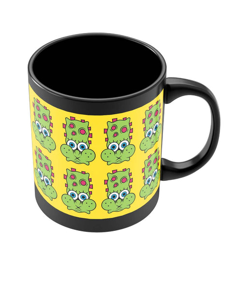 Coffee Mugs Online | Quirky Character Design Black Coffee Mug Online India