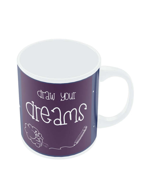 Coffee Mugs Online | Draw Your Dreams Illustration Mug Online India