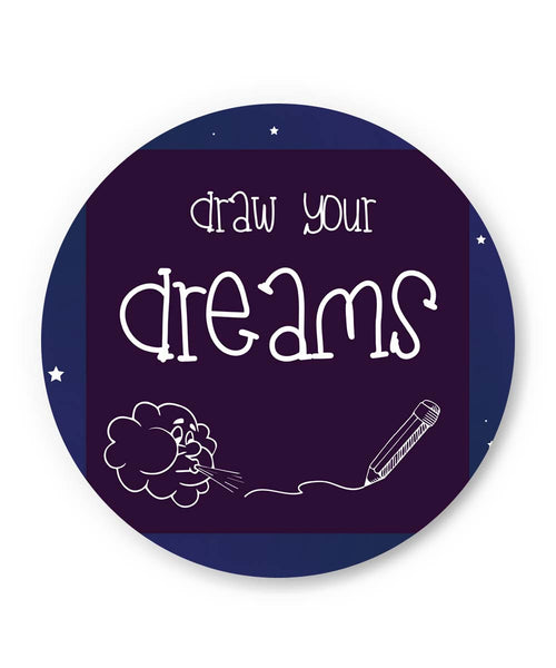 PosterGuy | Draw Your Dreams Illustration Fridge Magnet Online India by Lopamudra Maiti
