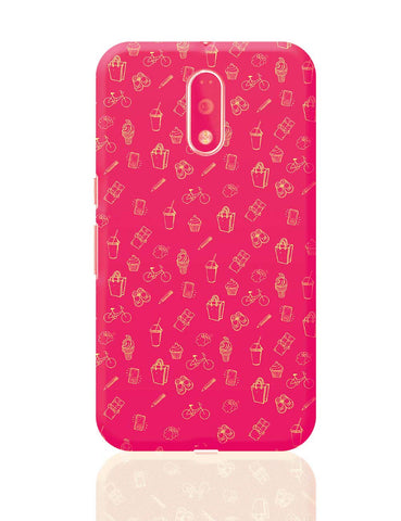 Cute Quirky Pattern  Moto G4 Plus Online India