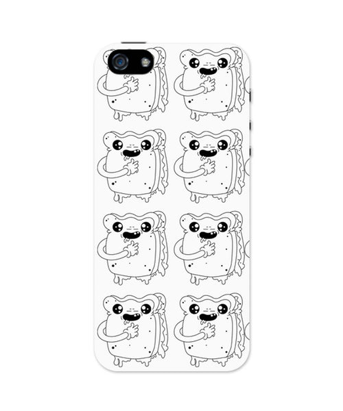 iPhone 5 / 5S Cases & Covers | Cute Crying Sandwich iPhone 5 / 5S Case Online India