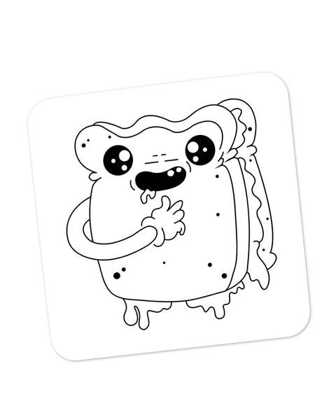 Buy Coasters Online | Cute Crying Sandwich Coaster Online India | PosterGuy.in