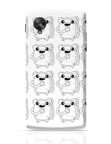 Google Nexus 5 Covers | Cute Crying Sandwich Google Nexus 5 Cover Online India