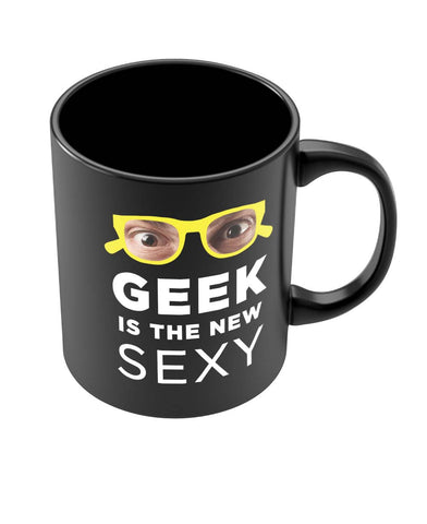 Coffee Mugs Online | Geek is The New Sexy Black Coffee Mug Online India